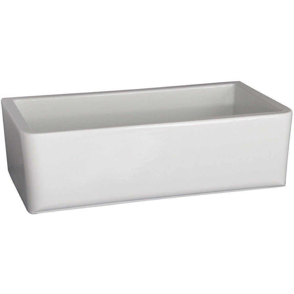 "Barclay FS33RC 33"" Fireclay Single Bowl Farmhouse Apron Front Kitchen Sink with Rounded Corners - Annie & Oak"