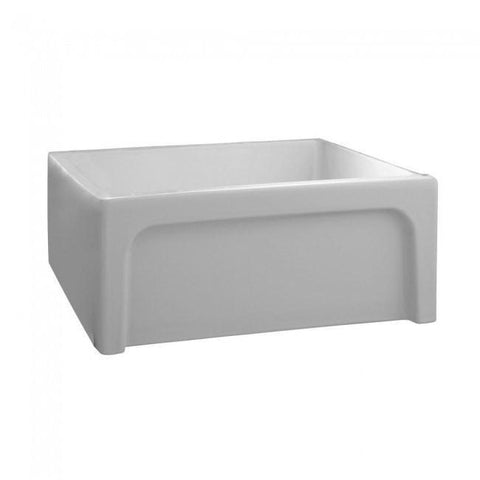 Image of Barclay FSSB1052 Fireclay Single Bowl Farmhouse Kitchen Sink With Arched Apron Front - Annie & Oak