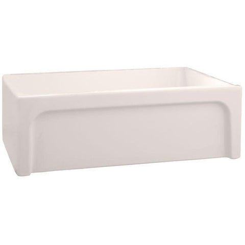 "Image of Barclay FSSB1054 Granville 30"" Fireclay Single Bowl Farmhouse Kitchen Sink - Annie & Oak"