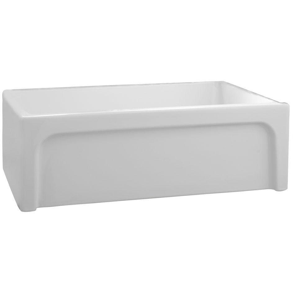 "Barclay FSSB1054 Granville 30"" Fireclay Single Bowl Farmhouse Kitchen Sink - Annie & Oak"