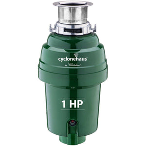 Cyclonehaus High Effciency 1 HP Garbage Disposal WH007 with Brass Flange-Annie & Oak