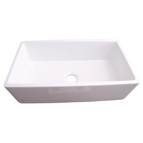 "Barclay FS33 Gwen 33"" White Fireclay Single Bowl Apron Front Farmhouse Sink"