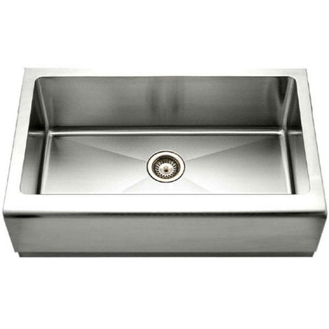 "Image of Houzer Epicure EPG-3300 30"" Stainless Steel Single Bowl Farmhouse Sink - Annie & Oak"