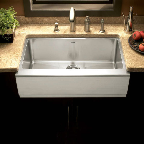 "Houzer Epicure EPG-3300 30"" Stainless Steel Single Bowl Farmhouse Sink - Annie & Oak"