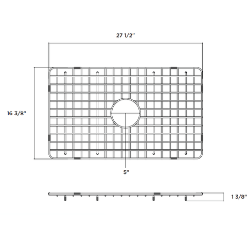 Image of Latoscana SSG-LTW3019 Stainless Steel Kitchen Sink Grid for LTW3019W - Annie & Oak
