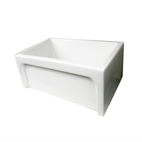 "Image of Nantucket Chatham-24 24"" White Single Bowl Fireclay  Farmhouse Sink - Annie & Oak"