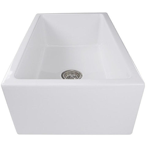 Image of Nantucket Sinks CHATHAM30 Fireclay Farmhouse Apron Front Kitchen Sink-Annie & Oak