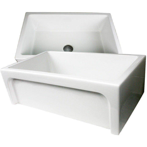 "Image of Nantucket Chatham-30 30"" White Single Bowl Fireclay  Farmhouse Sink - Annie & Oak"