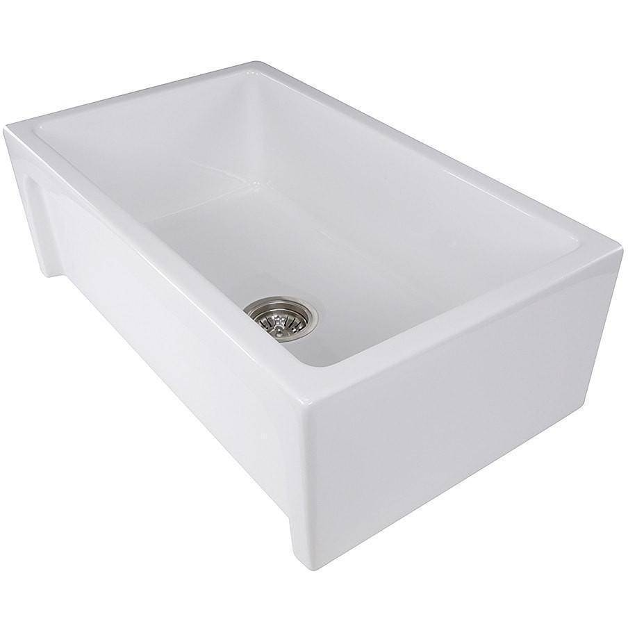 "Nantucket Chatham-30 30"" White Single Bowl Fireclay  Farmhouse Sink - Annie & Oak"