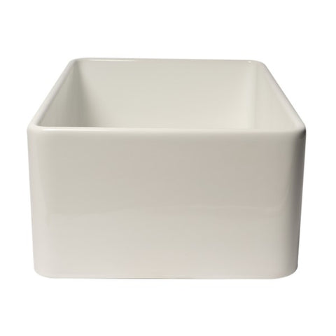 "Image of ALFI brand ABF3018 30"" White Single Bowl Thin Wall Fireclay Farmhouse Sink-Annie & Oak"