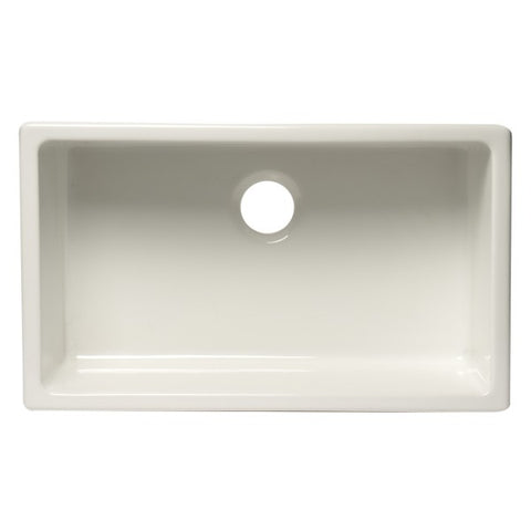 "ALFI brand AB3018UD-W 30"" White Single Bowl Undermount Fireclay Sink-Annie & Oak"