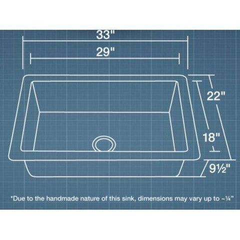 "Polaris P409 25"" Hammered Copper Single Basin Undermount Kitchen Sink - Annie & Oak"