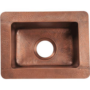 Polaris P509 Small Single Bowl Copper Sink