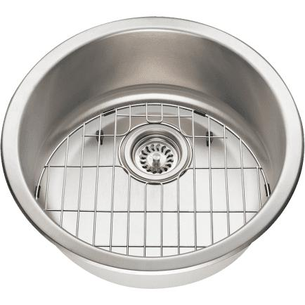 Image of Polaris Sinks P564 Round Stainless Steel Bar or Prep Sink - Annie & Oak