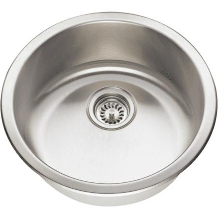 Polaris Sinks P564 Round Stainless Steel Bar or Prep Sink - Annie & Oak