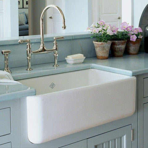 Rohl Shaws Original Lancaster 30 in. Fireclay Farmhouse Sink - Annie & Oak
