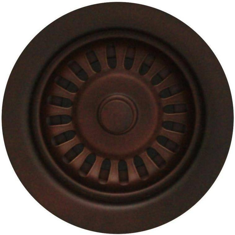 Whitehaus RNW35 3 1/2'' Kitchen Sink Brass Basket Strainer-Annie & Oak