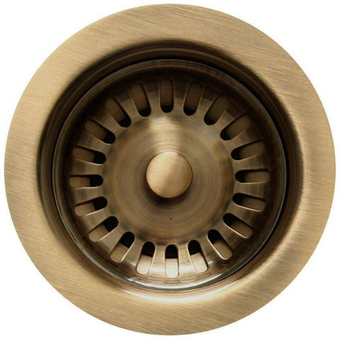 Image of Whitehaus RNW35L Extra Long Standard 3 1/2'' Basket Strainer-Annie & Oak