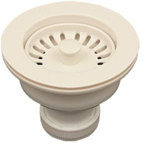 Image of Whitehaus RNW50L 3 1/2 Inch Basket Strainer For Deep Fireclay Sinks - Annie & Oak