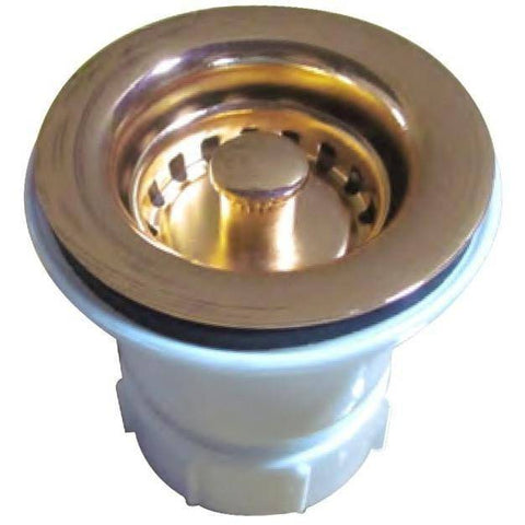 Image of Whitehaus WC2BASK 2'' Kitchen Sink Basket Strainer in Variety of Finishes-Annie & Oak