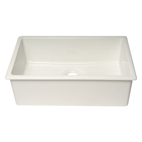 "ALFI brand AB3018UD-W 30"" White Single Bowl Undermount Fireclay Sink - Annie & Oak"