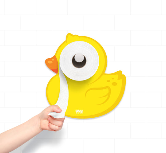 Toilet Paper Holder, Potty Training, Kids Bathroom, Baby Bath Decor, Ducky, Duck