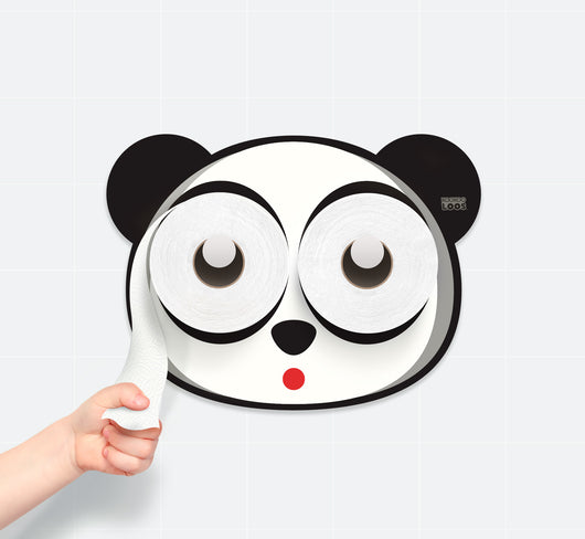 Panda, Toilet Paper Holder, Potty Training, Kids Bathroom, Baby Bath Decor