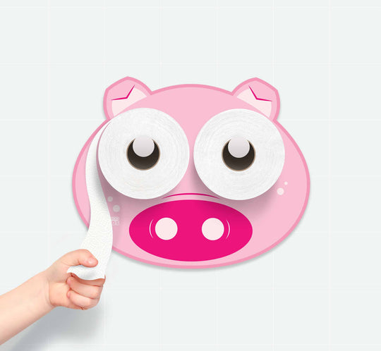 Toilet Paper Holder, Potty Training, Pig