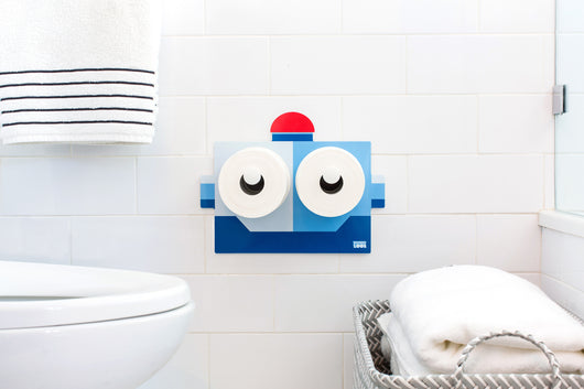 KooKooBot Toilet Paper Holder KooKooLoos Unique Bathroom Paper