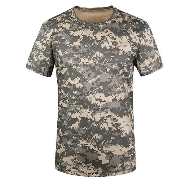 CAMOUFLAGE BREATHABLE ARMY TACTICAL COMBAT T-SHIRT FOR MEN- EXCLUSIVE & FAST SPONSORED