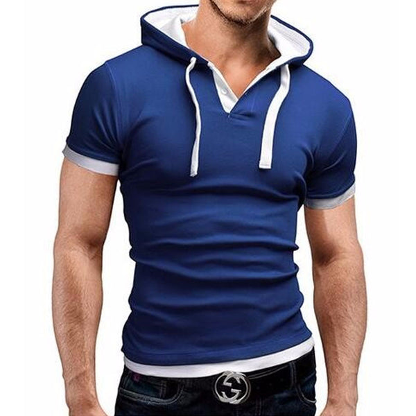 SUMMER FASHION HOODED SLING SHORT SLEEVE SHIRT- EXCLUSIVE & FAST SPONSORED