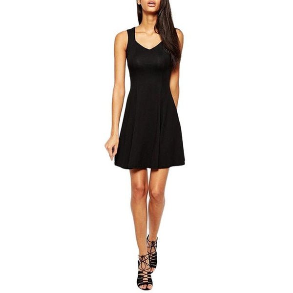 SLEEVELESS EVENING MINI PARTY DRESS - EXCLUSIVE & FAST SPONSORED