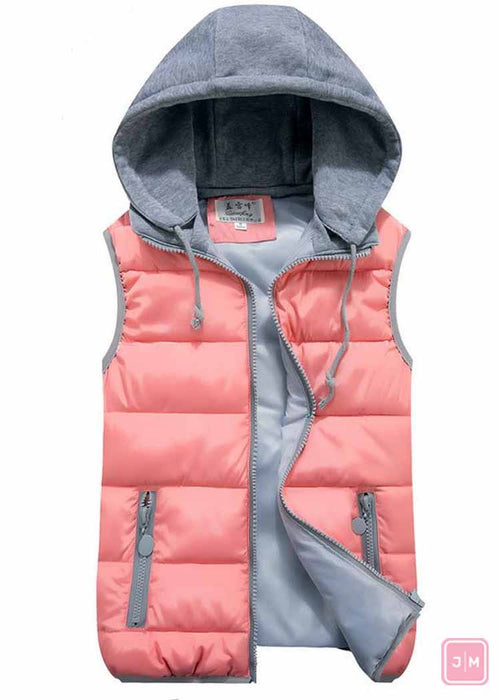 Vest with Removable Hood