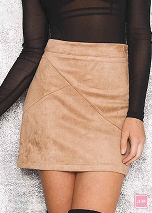 Autumn Suede Skirt