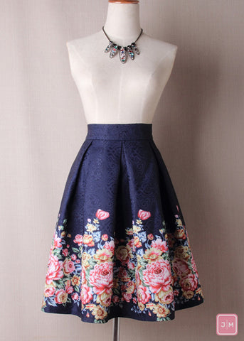 Floral Highwaist Skirt