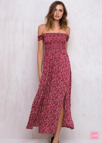 Holiday Bliss Maxi Red