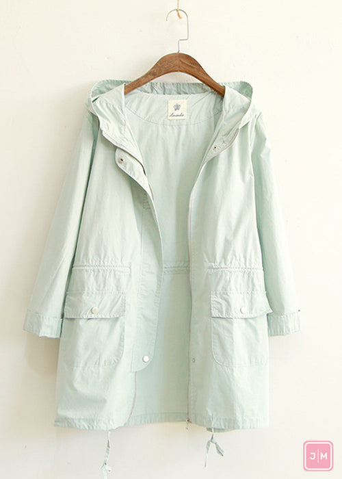 Sky Blue Autumn Overcoat