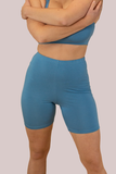 Powder Blue Gabi Bike Shorts
