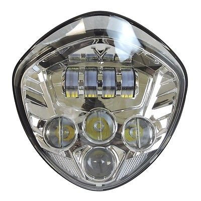 Motorcycle LED Headlight Chrome For Victory 2010-16 Cross Cruisers Models 07-16