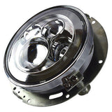 "7"" LED Projector Daymaker Headlight Chrome with Adaptor Mounting Ring"