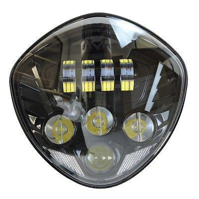 Motorcycle LED Headlight Black For Victory 2010-2016 Cross Cruisers Models 07-16