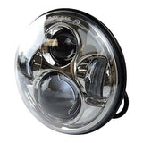 "5.75"" 5 3/4 LED Motorcycle Headlight Daymaker Chrome Projector DRL Bulb Harley"