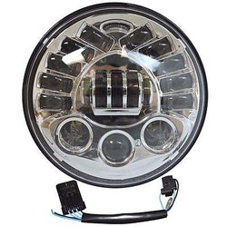 7 LED Integrated Projector Daymaker Headlight Chrome