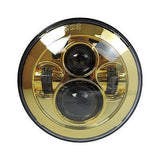 "7"" LED Projector Daymaker Headlight Gold"