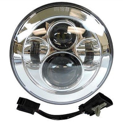 7 LED Projector Daymaker Headlight Chrome