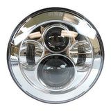 "7"" LED Projector Daymaker Headlight Chrome"