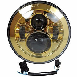 7 LED Projector Daymaker Headlight Gold