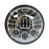 "7"" LED Integrated Projector Daymaker Headlight Chrome"