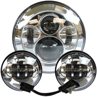 7 Chrome LED Projector Daymaker Headlight