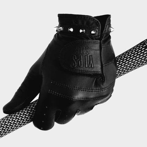 Men's Black Silver Spikes Glove